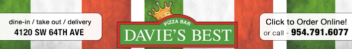 Davie\'s Best Pizza