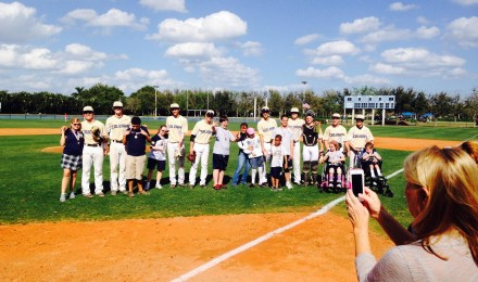 "V.E. students and players from Calvary unite in ""Heart to Heart,"" charity game."
